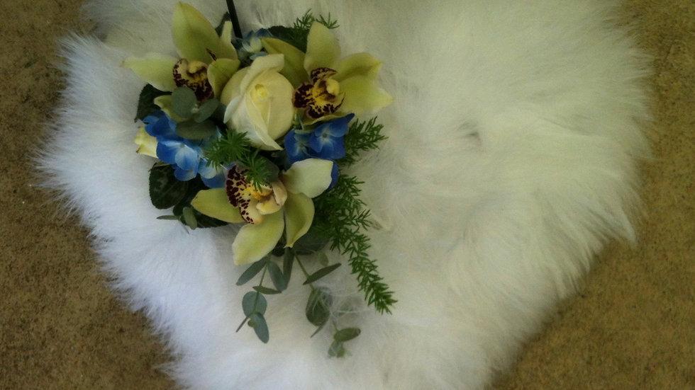 Fluffy Heart Wreath