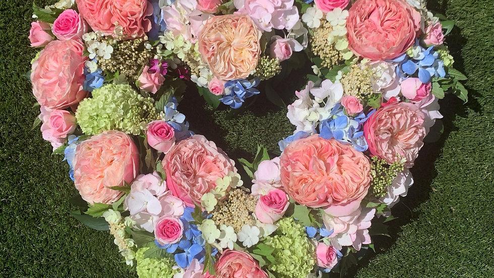 Colourful Heart Wreath
