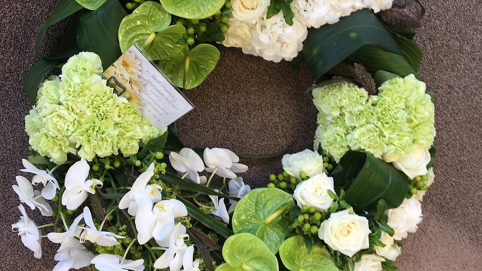 Green & White Wreath