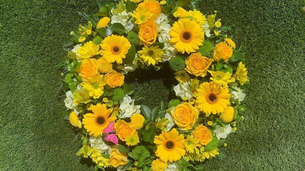 Yellow Mellow Wreath