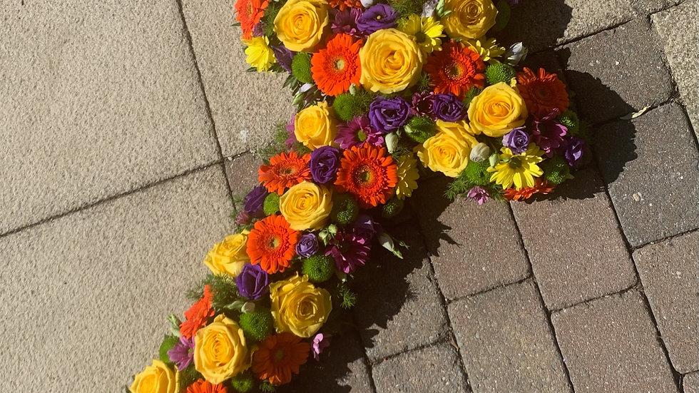 Colourful Rose - Cross