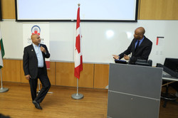 Anil Shah with Ahmed Hussen MP