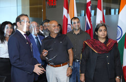 Visit with High Commissioner of India &