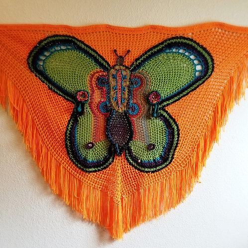 Spring Monarch Shawl