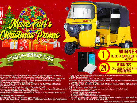 Marz Fuel Christmas Raffle Promo!