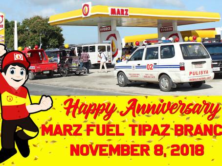 Happy Anniversary, Marz Fuel Tipaz Branch!