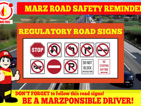 Please follow the regulatory road signs!