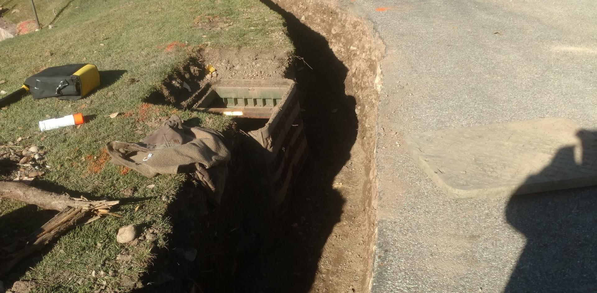 Trenching job at ironbridge