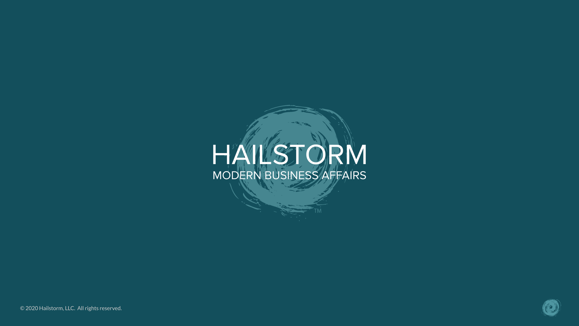 Working With Hailstorm - 2020 (Agency w_