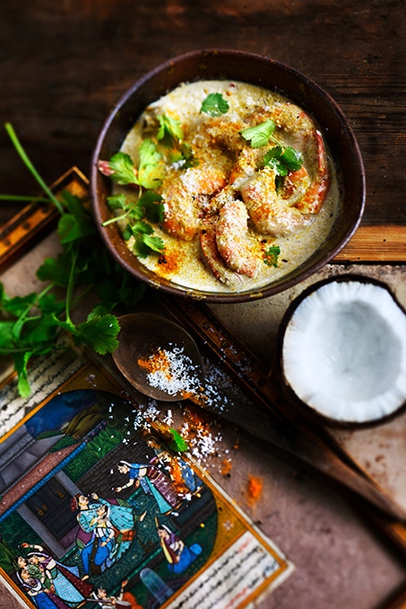 Inde - curry de gambas à la noix de coco