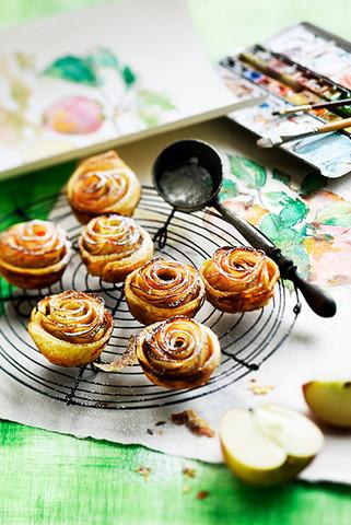 tartelettes fleurs aux pommes