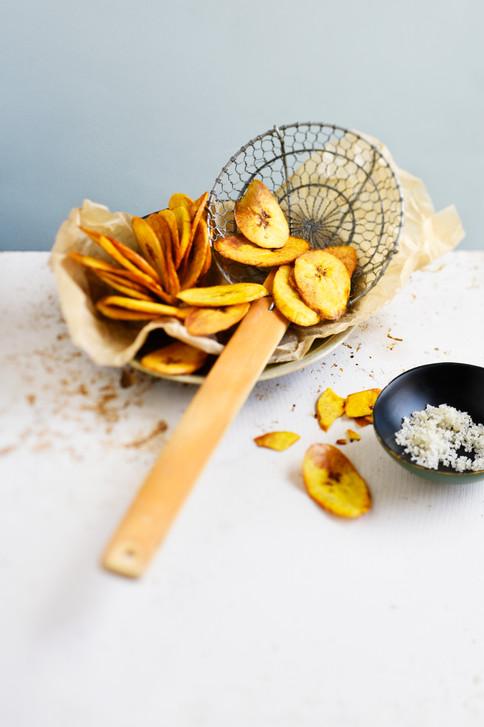 Végétarien - chips de banane plantain