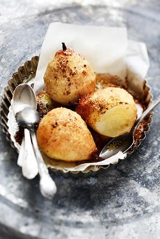 poires rôties à la crème d'amandes