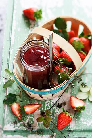 confiture de fraises au thym citron