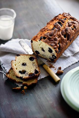 cake aux myrtilles et aux amandes