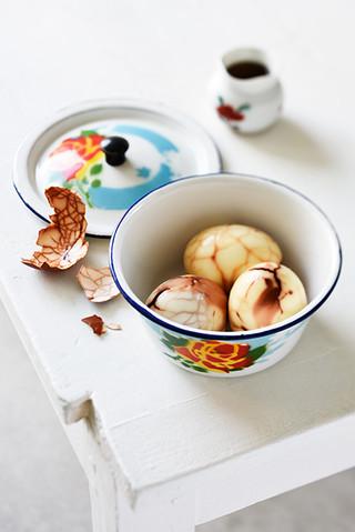 œufs marbrés au thé et au soja