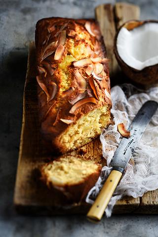 cake à l'ananas, noix de coco et rhum