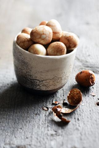 oeufs de caille marbrés au soja