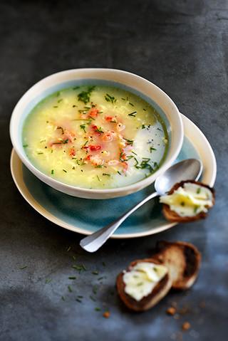 soupe aux oeufs et au crabe