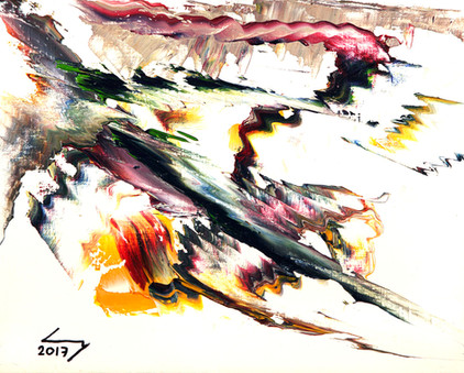 Cheval 19x24 cm huile sur papier n° 1715