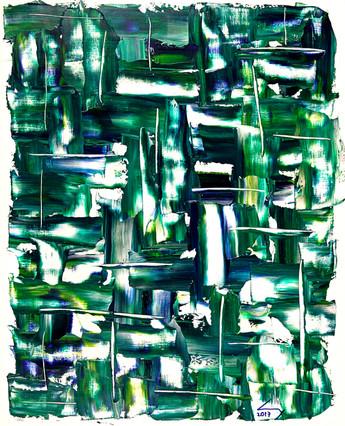 38x46 cm huile sur papier n° 1747