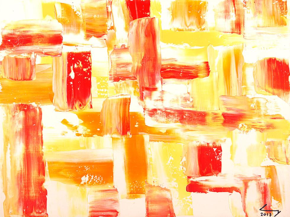 Triptique 2 30x40 cm huile sur papier 1718_2