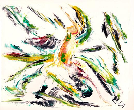 38x46 cm huile sur papier n° 1743