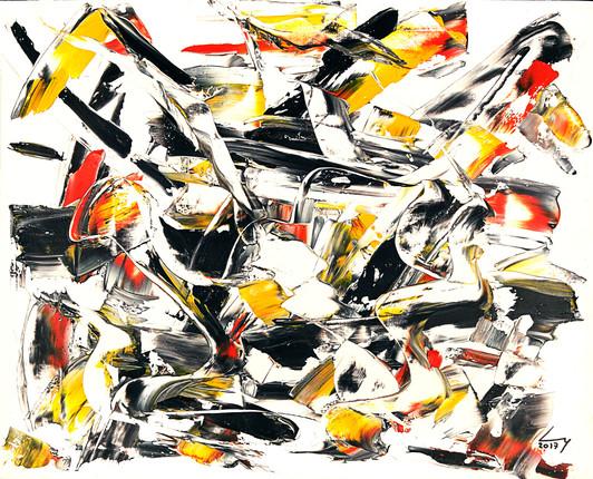 38x46 cm huile sur papier n° 1739