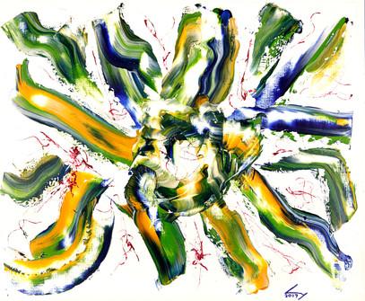 38x46 cm huile sur papier n° 1749