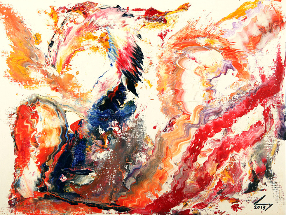 30x40 cm huile sur papier n° 1705