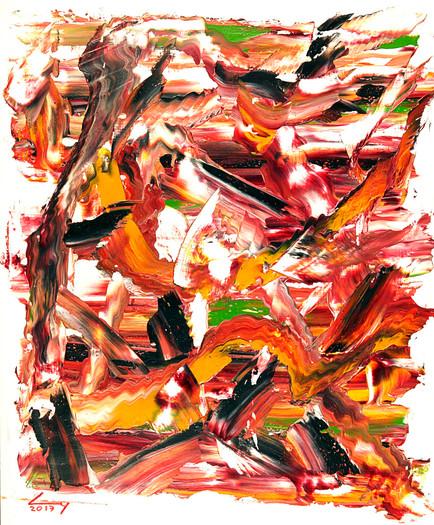 38x46 cm huile sur papier n° 1746