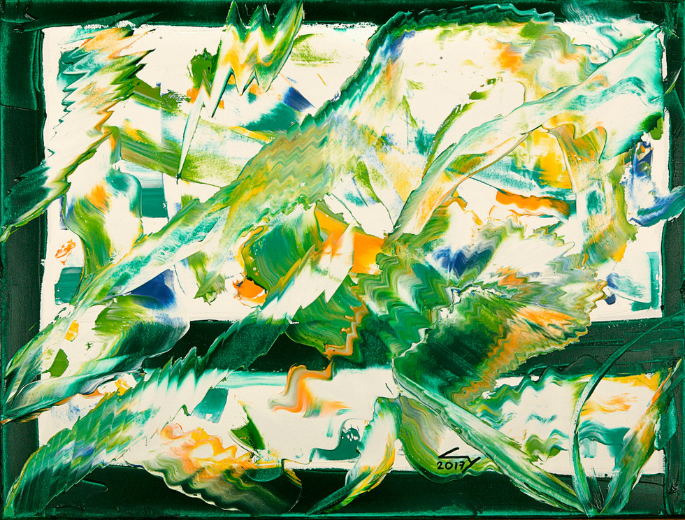 35x45 cm huile sur châssis n° 1728
