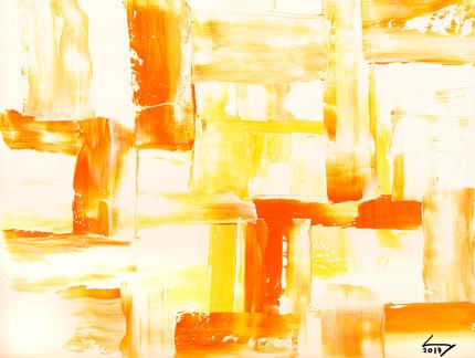 Triptique 1 30x40 cm huile sur papier n° 1718_1