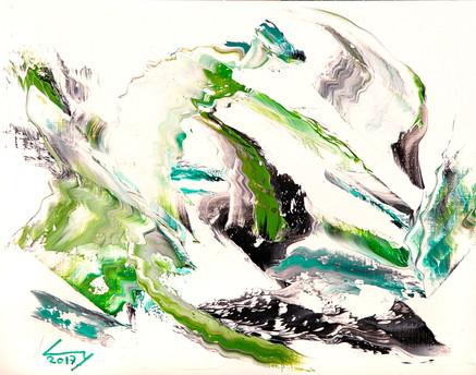 38x46 cm huile sur papier n° 1742