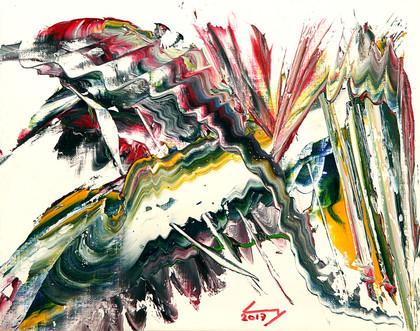 19x24 cm huile sur papier n° 1714