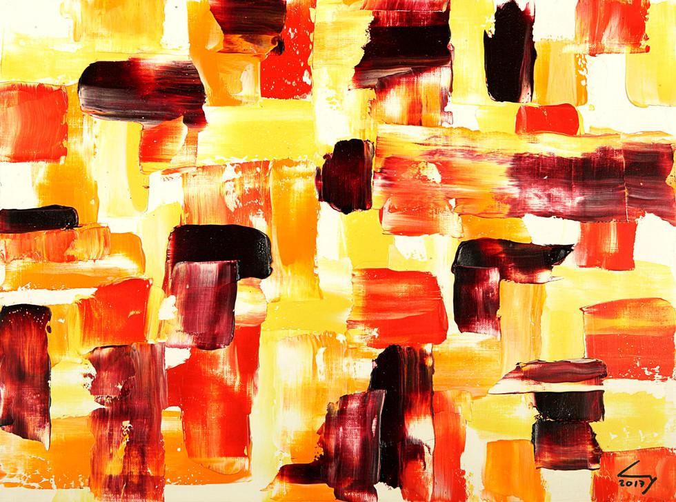 Triptique 3 30x40 cm huile sur papier n° 1718_