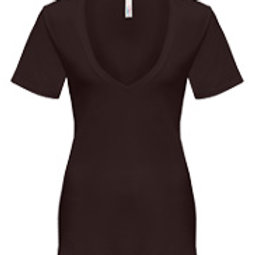 T-Shirt Femme (Col en V)