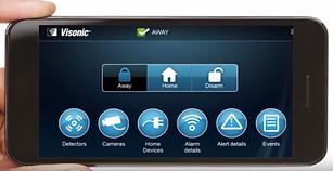 Visonic-go, alarm smartphone app