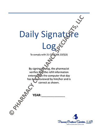 Daily Signature Log