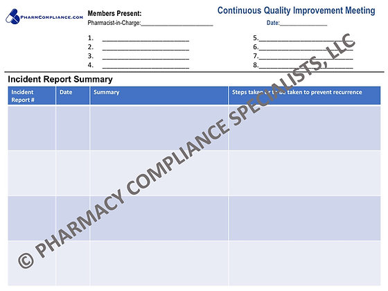 KANSAS - Continuous Quality Improvement (CQI) Meeting Template