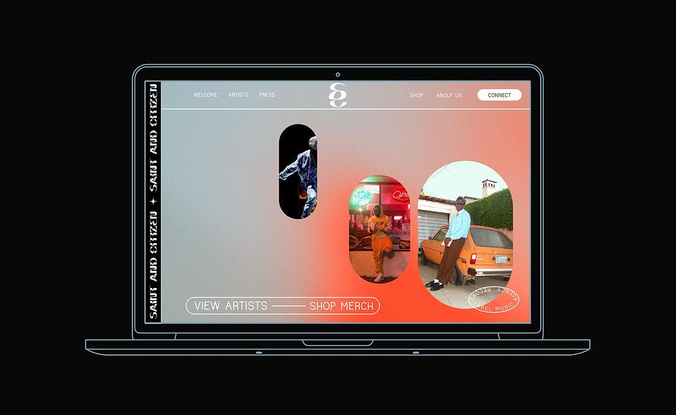 Saint & Citizen Records Web Design by Studio Linear