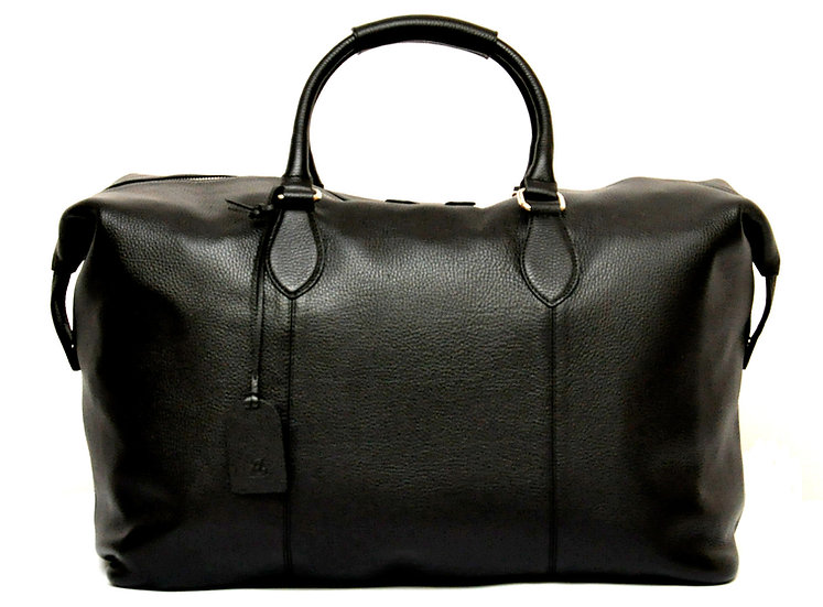 XL Leather Travel Bag - Black