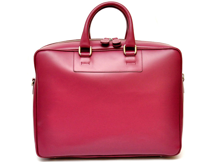 Core Business Leather Bag - Cherry Red
