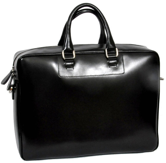 Core Business Leather Bag - Black