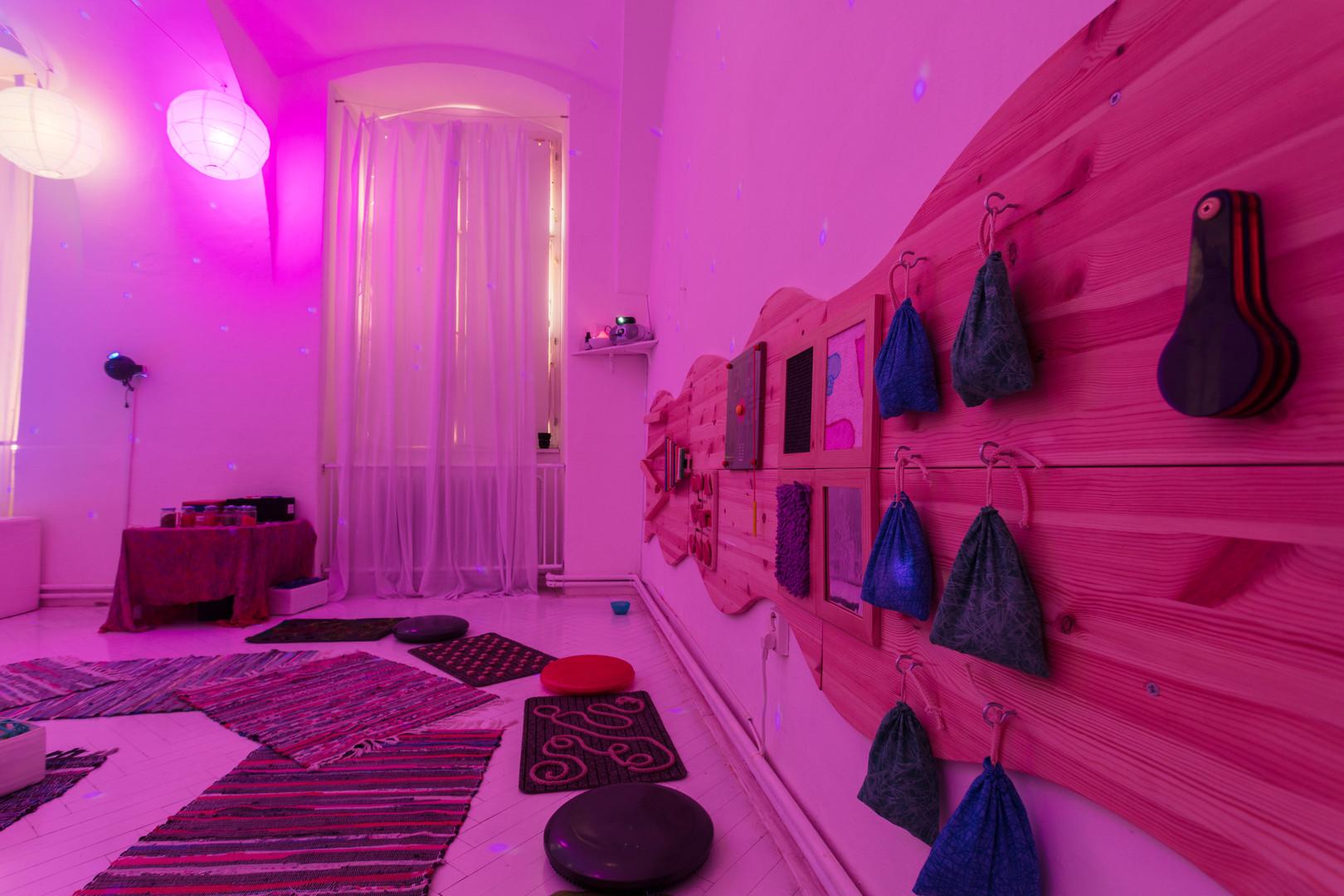 Snoezelen_Olomouc_bílá_místnost_relaxace