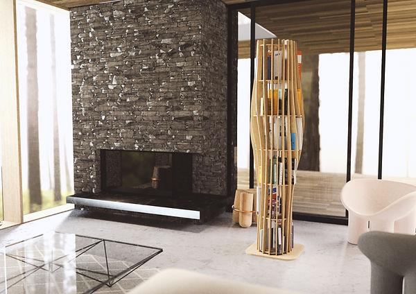 intérieur luxe luxueux architecture architecte intérieur décorateur salon séjour made in france locale responsable éco responsable artisan artisanat français bibliothèque ranger livres
