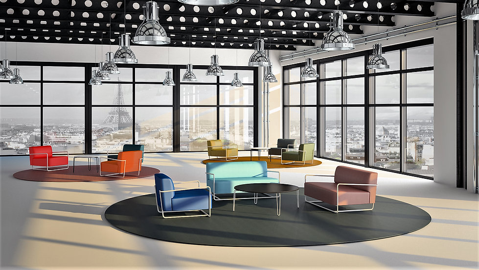 fauteuil canapé bolt 72 128 design designer loft petit espace grand décorateur architecte intérieur salon livingroom laine tissu deux places artisan artisanat