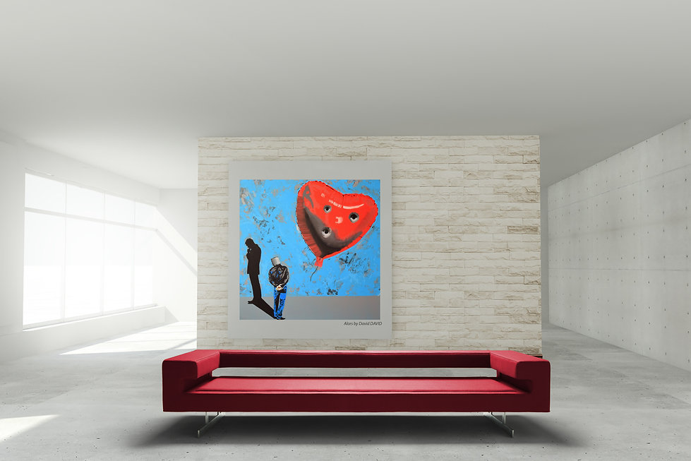 alors david david peinture tableau design canapé sofa long pascal bauer avant garde gardiste futuriste ultra design confortable laine cuir anti feu M1 salon living room