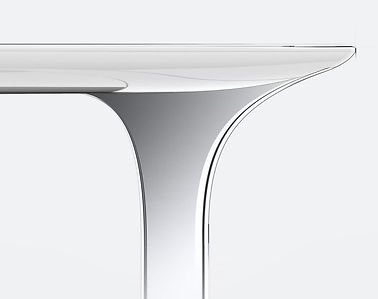 Table banc design extrados corian designer made in frane fabriqué en france