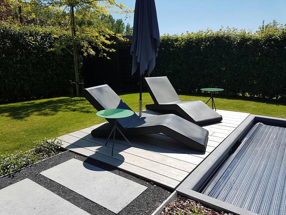 wok bain soleil transat méridienne terrasse jardin piscine futuristeavant gardiste design pascal bauer designer pool swimming garden